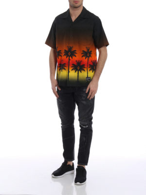 Marcelo Burlon: shirts online - Red Palm short sleeved shirt