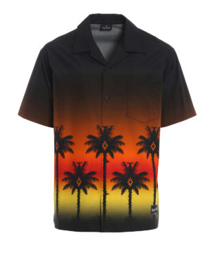 Marcelo Burlon: shirts - Red Palm short sleeved shirt