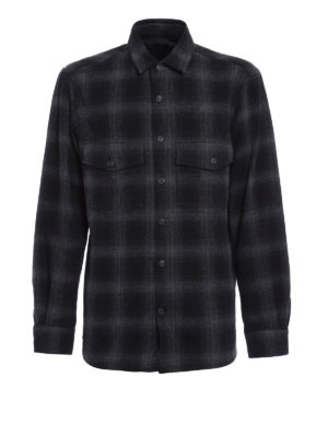 Marcelo Burlon: shirts - Sham panther print check shirt