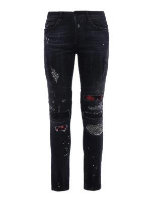 Marcelo Burlon: skinny jeans - Ain biker slim fit jeans