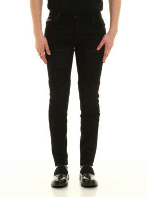Marcelo Burlon: skinny jeans online - Gil biker slim denim jeans