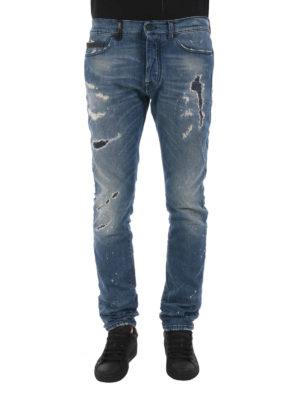 Marcelo Burlon: skinny jeans online - Vintage wash used looking jeans