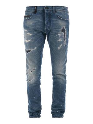 Marcelo Burlon: skinny jeans - Vintage wash used looking jeans