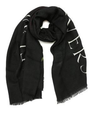 Marcelo Burlon: Stoles & Shawls - Chakras print squared wool shawl