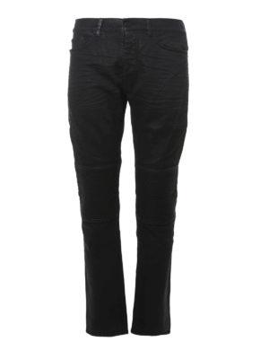 Marcelo Burlon: straight leg jeans - Denim slim fit biker jeans