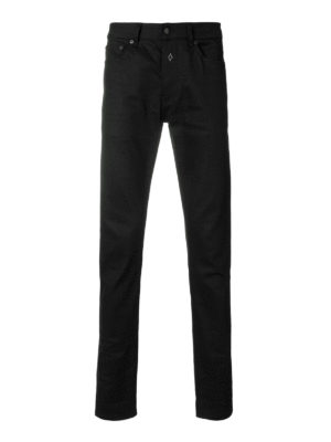Marcelo Burlon: straight leg jeans - Elal slim fit embroidered jeans