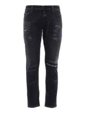 Marcelo Burlon: straight leg jeans - Gothic Surfer Antifit jeans