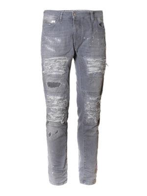Marcelo Burlon: straight leg jeans - Greg biker jeans