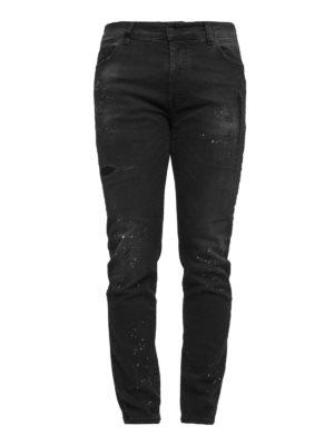 Marcelo Burlon: straight leg jeans - Gregorio spotted jeans
