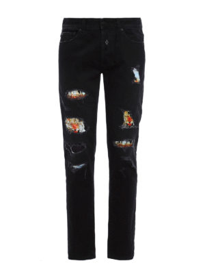 Marcelo Burlon: straight leg jeans - Hor slim fit jeans