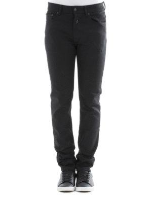 Marcelo Burlon: straight leg jeans online - Elal slim fit embroidered jeans