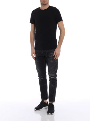 Marcelo Burlon: straight leg jeans online - Gothic Surfer Antifit jeans