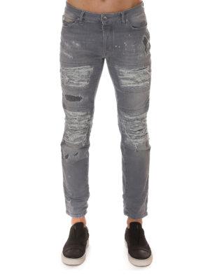 Marcelo Burlon: straight leg jeans online - Greg biker jeans