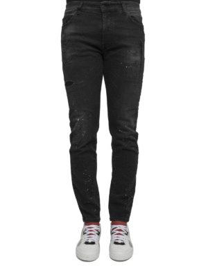 Marcelo Burlon: straight leg jeans online - Gregorio spotted jeans