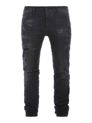 Marcelo Burlon: straight leg jeans - Vintage Wash Regular Fit jeans