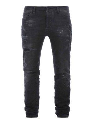 Marcelo Burlon: straight leg jeans - Vintage Wash Regular Fit jeans