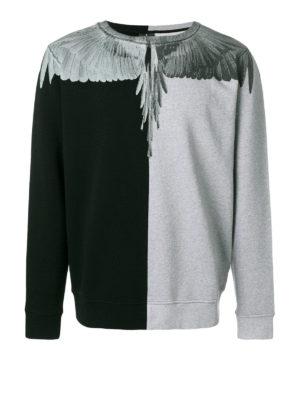 Marcelo Burlon: Sweatshirts & Sweaters - Asher colour block sweatshirt