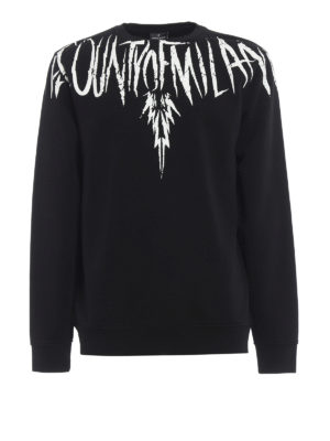 Marcelo Burlon: Sweatshirts & Sweaters - County Wing print cotton sweatshirt