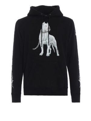 Marcelo Burlon: Felpe e maglie - Felpa nera Dogo in cotone con cappuccio