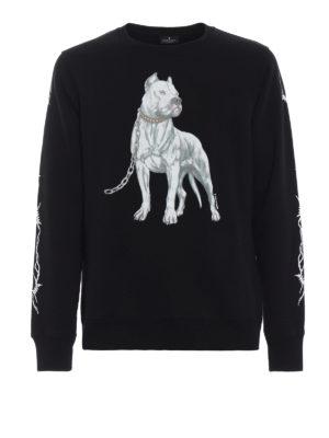 Marcelo Burlon: Felpe e maglie - Felpa nera Dogo in cotone