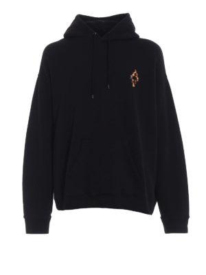 Marcelo Burlon: Sweatshirts & Sweaters - Fire Cross hoodie