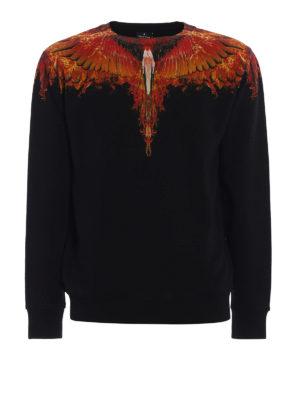 Marcelo Burlon: Sweatshirts & Sweaters - Flame Wing print cotton sweatshirt
