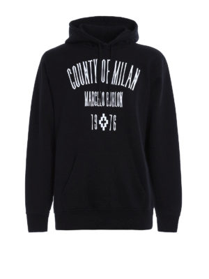 Marcelo Burlon: Sweatshirts & Sweaters - Jak embroidered logo patch hoodie