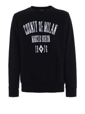 Marcelo Burlon: Sweatshirts & Sweaters - Jak embroidered sweatshirt