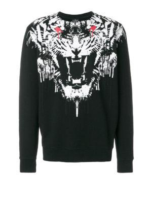 Marcelo Burlon: Sweatshirts & Sweaters - Jung panther print sweatshirt