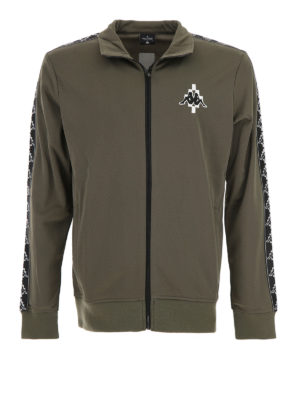 Marcelo Burlon: Sweatshirts & Sweaters - Kappa dark green zipped sweatshirt