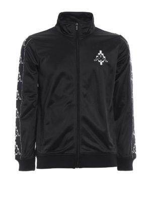 Marcelo Burlon: Sweatshirts & Sweaters - Kappa embroidery sporty sweatshirt