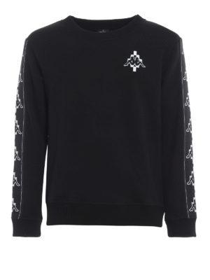 Marcelo Burlon: Sweatshirts & Sweaters - Kappa Tape jersey sweatshirt