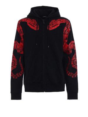 Marcelo Burlon: Sweatshirts & Sweaters - Maive hooded sweat jacket