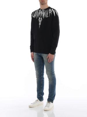 Marcelo Burlon: Sweatshirts & Sweaters online - County Wing print cotton sweatshirt