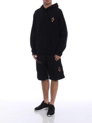 Marcelo Burlon: Sweatshirts & Sweaters online - Fire Cross hoodie