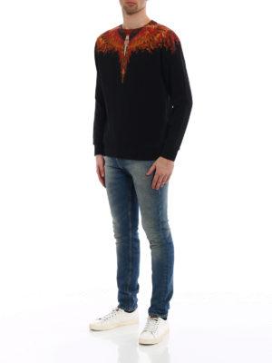 Marcelo Burlon: Sweatshirts & Sweaters online - Flame Wing print cotton sweatshirt