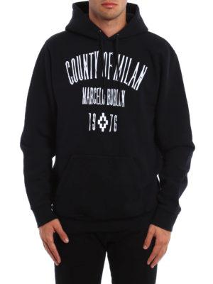 Marcelo Burlon: Sweatshirts & Sweaters online - Jak embroidered logo patch hoodie