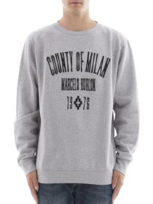 Marcelo Burlon: Sweatshirts & Sweaters online - Jak logo embroidery sweatshirt