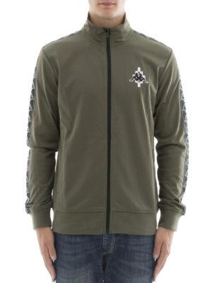 Marcelo Burlon: Sweatshirts & Sweaters online - Kappa dark green zipped sweatshirt