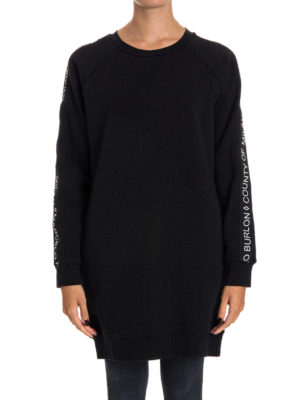 Marcelo Burlon: Sweatshirts & Sweaters online - Newen cotton long sweatshirt
