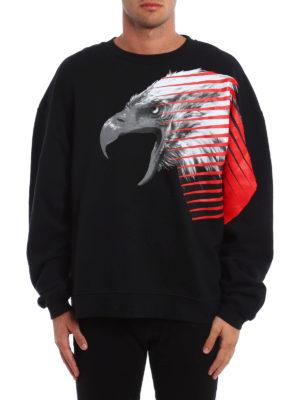 Marcelo Burlon: Sweatshirts & Sweaters online - Pawun eagle print over sweatshirt