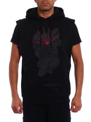 Marcelo Burlon: Sweatshirts & Sweaters online - Rayen sleeveless hoodie