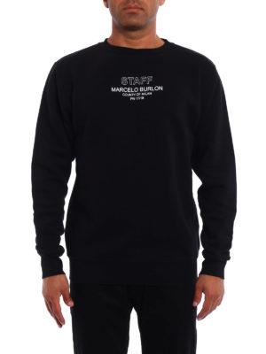 Marcelo Burlon: Sweatshirts & Sweaters online - Staff print crew neck sweatshirt