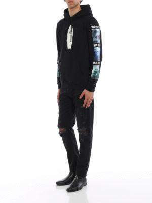 Marcelo Burlon: Sweatshirts & Sweaters online - Surf print cotton hoodie