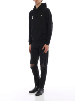 Marcelo Burlon: Sweatshirts & Sweaters online - Waves print cotton hoodie
