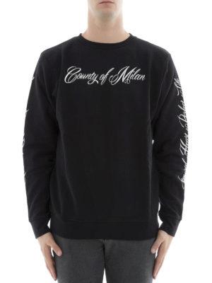 Marcelo Burlon: Sweatshirts & Sweaters online - Wonk logo print sweatshirt