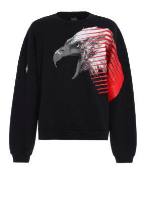 Marcelo Burlon: Sweatshirts & Sweaters - Pawun eagle print over sweatshirt