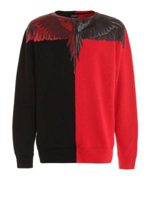 Marcelo Burlon: Sweatshirts & Sweaters - Paz Crew printed cotton sweatshirt