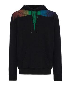 Marcelo Burlon: Sweatshirts & Sweaters - Rainbow Wings cotton hoodie