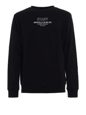 Marcelo Burlon: Sweatshirts & Sweaters - Staff print crew neck sweatshirt